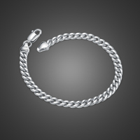 New fashion 100% 925 Sterling silver jewelry Punk hip hop style men& boy solid silver bracelet fine fashion birthday present