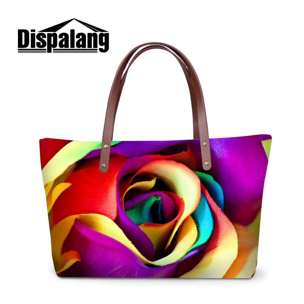 plant rose women handbag (6) New Striped Canvas Handbag Women Shoulder Bags Beach Bag Fashion Zipper Tassel Women Handbag Big Tote Bag