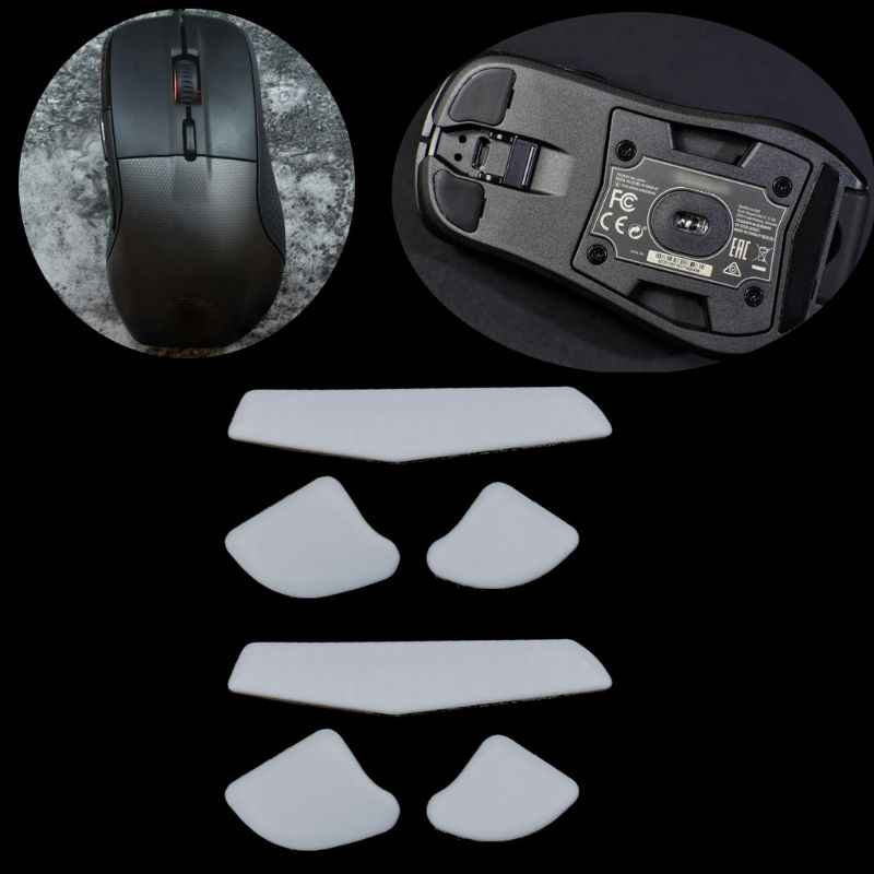2 Sets/pack Tiger Gaming Mouse Kaki Mouse Skate untuk SteelSeries Rival 700 Gaming Mouse Putih Teflon Mouse Meluncur Curve Edge