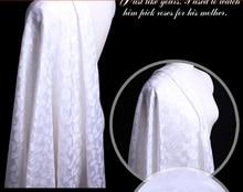 Leo & lin novo material recorte bordado seda diy roupas tecido jacquard de seda para vestido 50cm