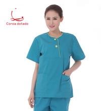 Doctors hand wash short sleeve split suit hospital beauty salon uniform isolation
