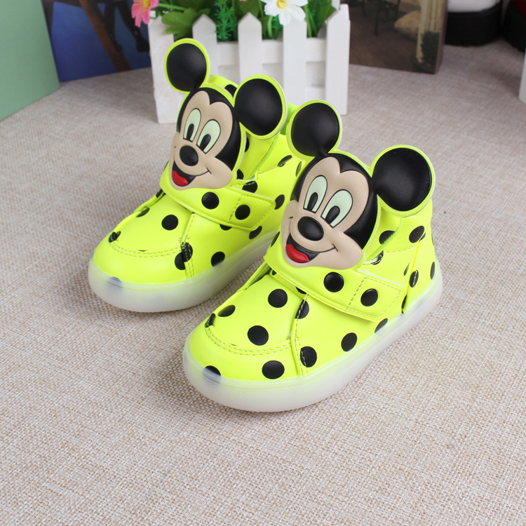 LED light new brand baby sneakers,Cool printing Fashion baby boots,hot sales lovely kids girls boys shoes free shipping