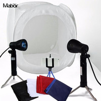 Mabor 24 Inch 60cm Photo Studio Shooting Photography Light Tent Soft Box Backdrop Kit Lighting In