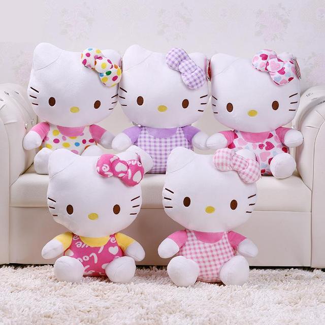 Новое прибытие Англия, сидя высота 30 см hello kitty украшения Дома плюшевые hello kitty игрушки KT кукла для детей подарок