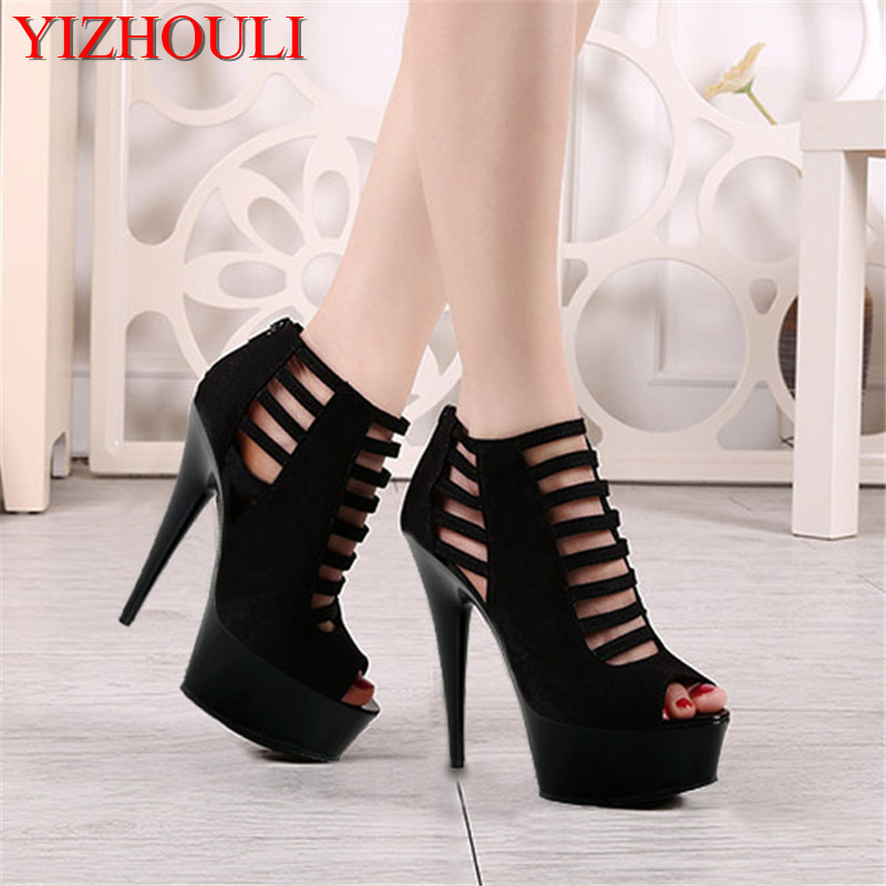 Office & School Supplies United 15cm Sexy Pole Dancing Shoes High Heels Sandals Platform Thick Sole Shoes Night Club 7inch Model Dance Shoes Q-055 Fine Quality
