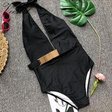 Купить с кэшбэком VEENEL 2018 Sexy Solid Color One Piece Swimsuit Push Up Swimwear Women Bodysuit Bandage Beach Wear Bathing Swimsuit Female