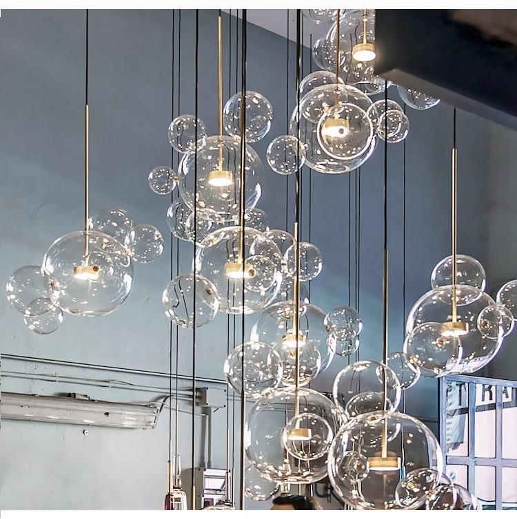 LukLoy nowoczesny wisiorek światła szkła wiszące lampy miedzi oprawa Bar w holu salon Loft kuchnia jadalnia oprawa światła