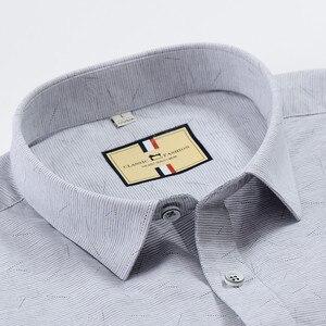 Image 5 - เนื้อหาผ้าฝ้ายแขนสั้นฤดูร้อนสบายธุรกิจผู้ชายลายสก๊อตลำลองเสื้อปกติFitเปิดลงปก