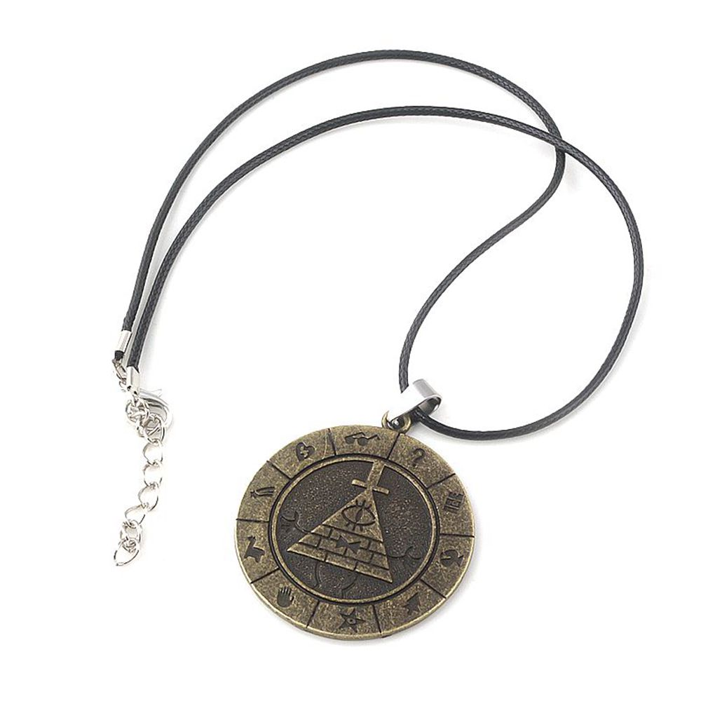 SC Anime Bronze Bill Cipher Boss Logo Gravity Falls Necklaces High Quality Fashion Alloy Women And Men Necklace Bijoux Femme