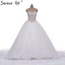 SERENE HILL Romantic Train Ball Bridal Gown Wedding Dresses