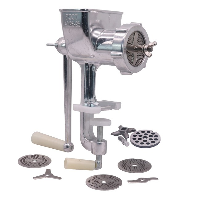 1 tamanho manual 6/2. 5/2/1.5/1mm da tomada da máquina de processamento da alimentação do conjunto quatro lâminas pet bird hamster animais pequenos processamento da alimentação