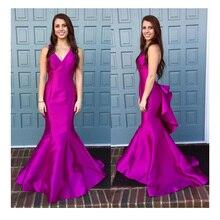 2016 neue Ankunft V-ausschnitt Sleeveless Nixe-langer Abschlussball Abendkleid Formales Partei-kleid Nach Maß Kleid