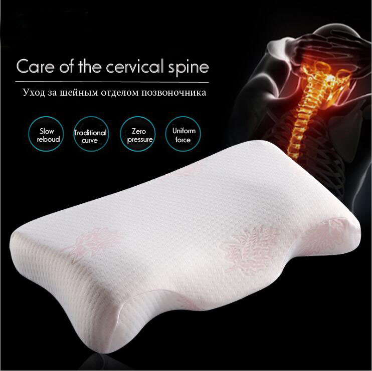 Ergonomic Cervical Contour Memory Foam Pillow For Neck Support And Pain Relief