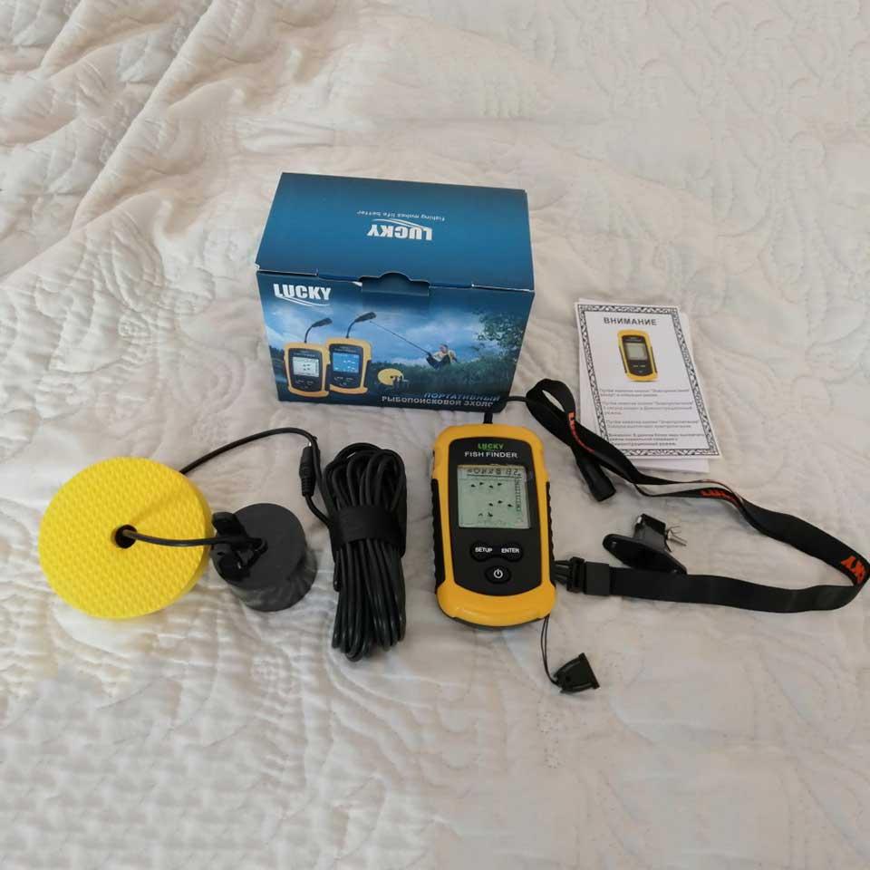Couleurs chanceuses affichage Portable poisson trouveur écho sondeur alarme transducteur sondeur 0.7-100m pêche écho sondeur - 6