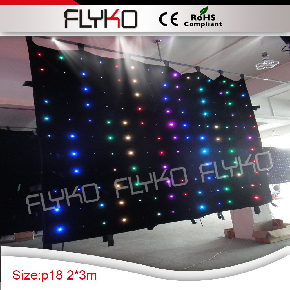 led curtain wall light 2x3m P18 indoor concert stage sale led curtain for dj booth