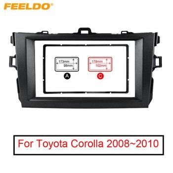 FEELDO 1 Pc Grau Auto Umrüstung 2DIN Radio Stereo DVD Rahmen Fascia Dash Panel Installation Kits Für Toyota Corolla 08 ~ 10 # FD2164