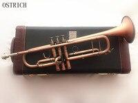 Страуса бемоль Профессиональный Трубы под старину Медь моделирование BB trompete Музыкальные инструменты латунь trombeta для начинающих
