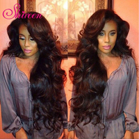 Shireen Hair 3 Bundles Brazilian Body Wave Hair With Closure 4 4 Free Part 4pcs Lot