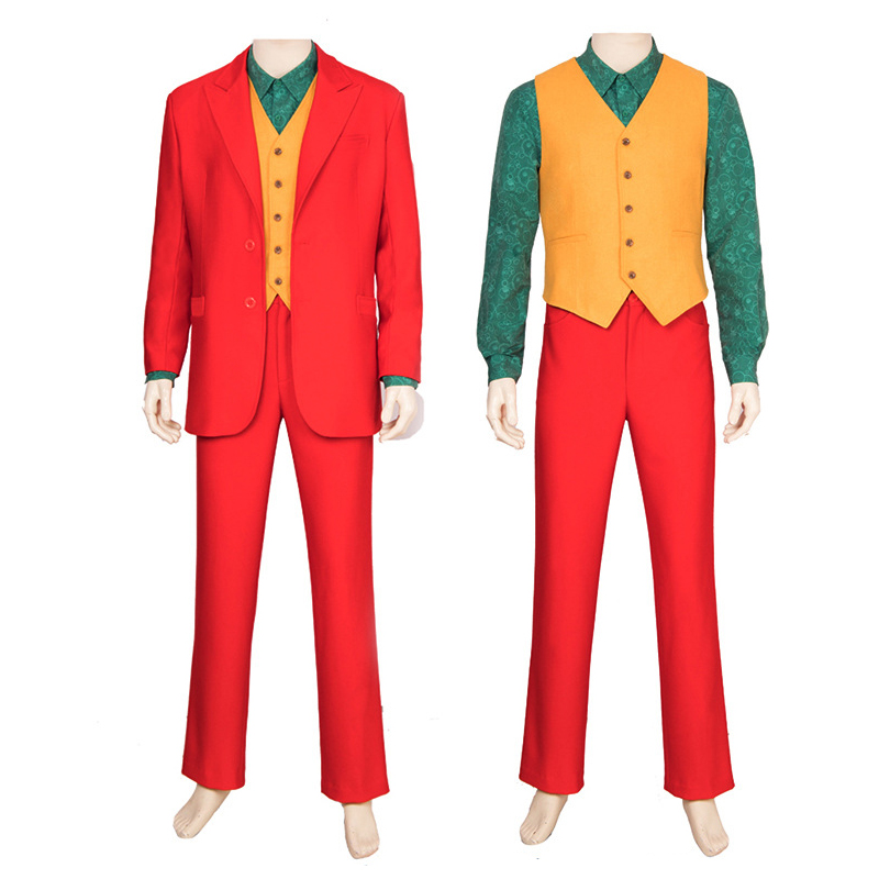 Anime Joker Cosplay Costumes Man Red Suit Cosplay Costume Uniform Halloween Carnival Party Daily Leisure Customized