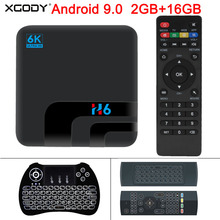 XGODY New H6 Android 9.0 6K Ultra HD Smart TV BOX 2GB 16GB Allwinner H6 Quad Core Media Player 2.4G WIFI Bluetooth Set Top Box стоимость
