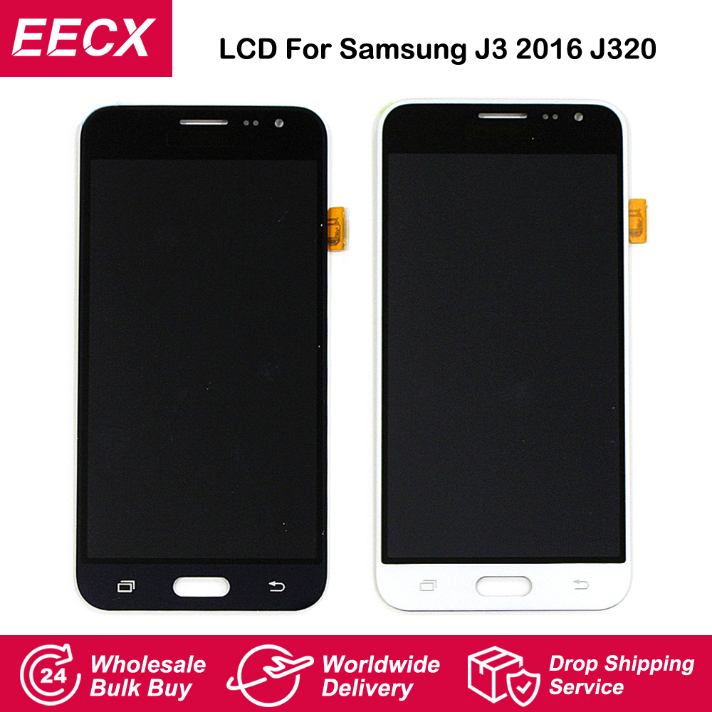 J320M LCD For Samsung Galaxy J3 2016 LCD J320 Display J320F J320FN Screen Touch screen Digitizer Assembly Adjust BrightnessJ320M LCD For Samsung Galaxy J3 2016 LCD J320 Display J320F J320FN Screen Touch screen Digitizer Assembly Adjust Brightness