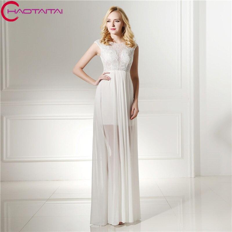 Cheap White Cocktail Dresses 2018: Vestido De Festa White Evening Dresses 2018 See Through
