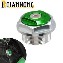 Motorcycle CNC Aluminum Engine Oil Filter Cup Plug Cover Screw for Kawasaki  ninja 200 300 NINJA CUP