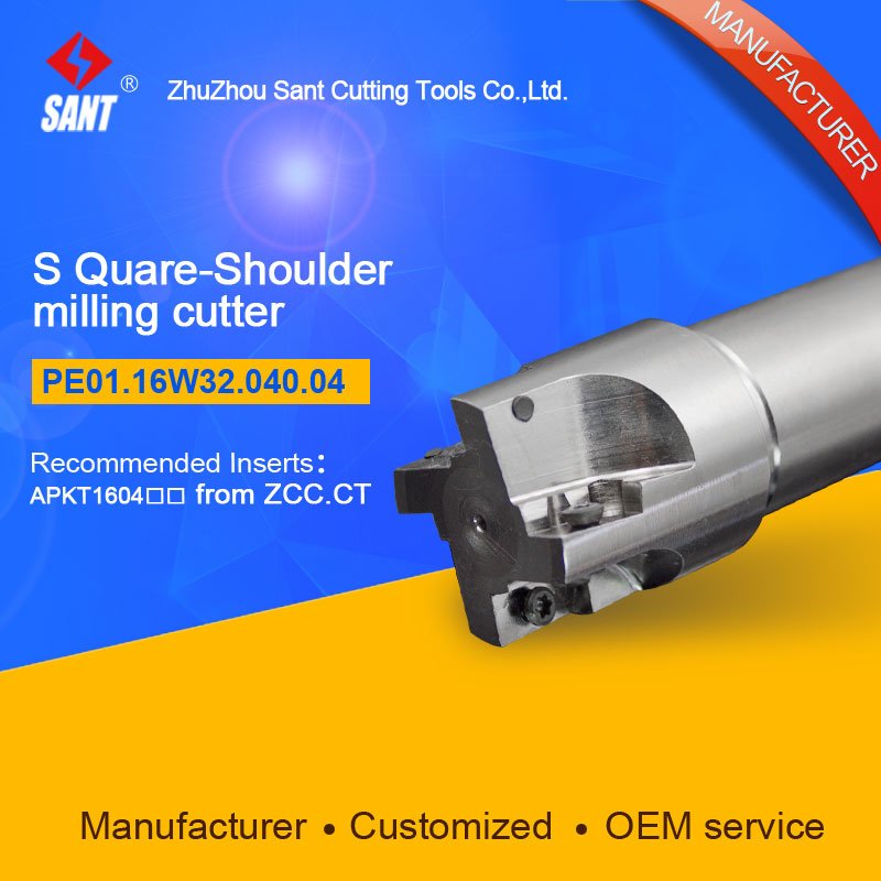 Zhuzhou Sant Indexable milling cutter with 90degree EMP01-040-XP32-AP16-04/PE01.16W32.040.04 Mached carbide insert APKT160408  цены