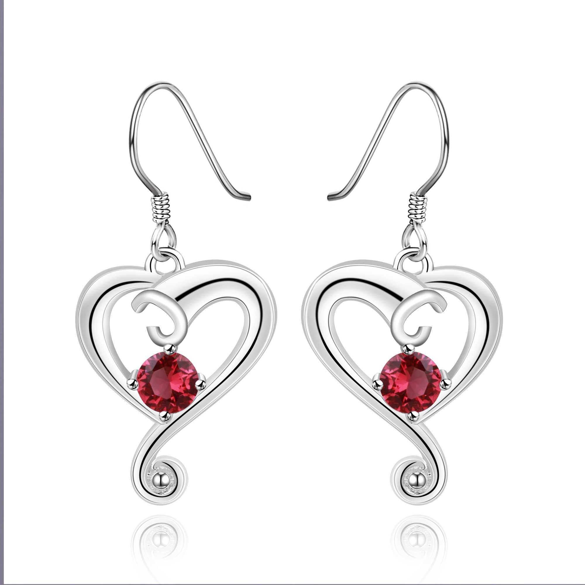 Wholesale Free Shipping Silver Plated Earring Silver