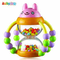 Colorful Baby Toys Ball Rattles Educational Toy For Babies Grasping Hourglass Multifunction Ring Bell 0 18