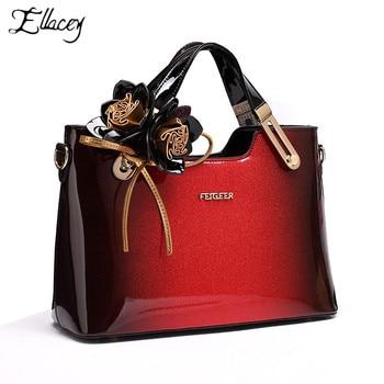 Sac femme 2019 sacs à main en cuir verni en cuir véritable pour dames sacs de bureau sacs à main de mariage rouge sacs à main bandoulière sac à bandoulière
