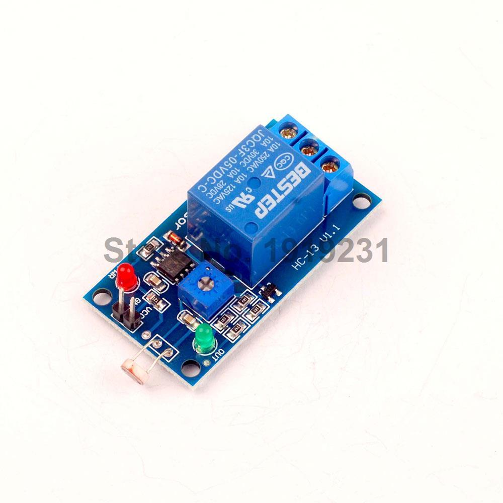 5pcs Lsr Light Sensitive Sensor Relay Photosensitive Optical 1 Terminal Module Channel 5v For Arduino Diy