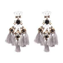 JUJIA MINI FALCON Tassel Earring Make a boho luxe statement fashion fringed statement stud earring Fringing earrings jewelry