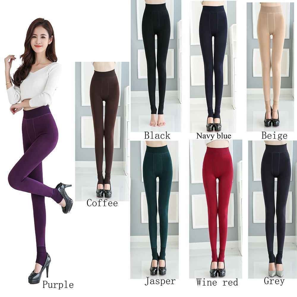 f0654a2d8a6f4 Women's New Winter Thick Warm Fleece Lined Thermal Stretchy Leggings Pants