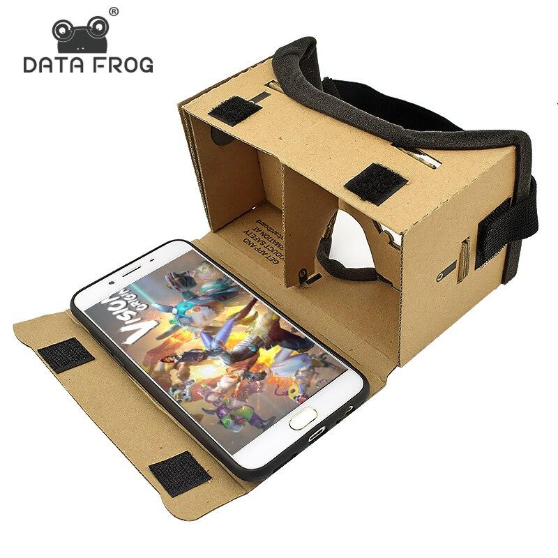 Виртуальной реальности Очки Google cardboard Очки 3D Очки VR коробка Фильмы для Iphone 5 6 7 смартфонов VR гарнитура