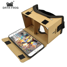 Виртуальной реальности Lunettes Google cardboard Lunettes 3D Lunettes VR коробка Фильмы для Iphone 5 6 7 смартфонов VR гарнитура