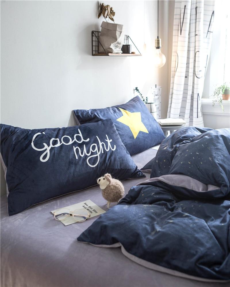 Textile à la maison, ours mignon Imprimé 4 pièces ensembles de literie de luxe Polaire tissu Housse de couette drap de Lit Taie D'oreiller, taille Queen, livraison gratuite - 4