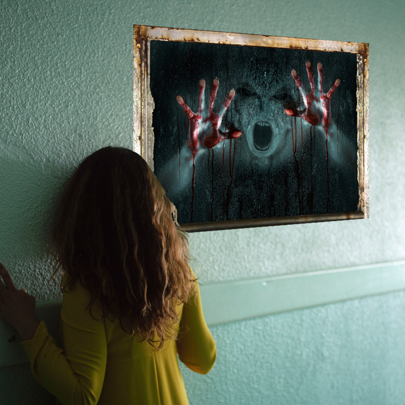 [Fundecor] Fear of blood people Halloween decoration wall ...