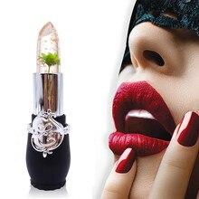 1 шт. красота питательная, увлажняющая бальзам для губ яркий Кристалл Желе Помада Волшебная Температура Изменение цвета губ водонепроницаемый Уход Инструмент L58