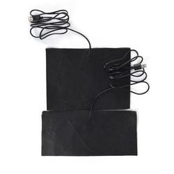 분사 탄소 섬유 가열 패드 USB 가열 재킷 코트 조끼 액세서리 따뜻한 넥 빠른 가열 크기 S/M