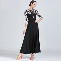 New style black ballroom Competition Dance Dress Simple Flamenco Waltz Dance Costume High Quality Women Ballroom Dancing Dresses