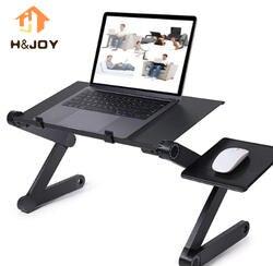 Портативный складной регулируемый, стол для ноутбука компьютерный стол подставка, лоток для дивана кровать черный