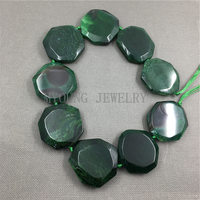 Faceted Round Slice Veins Green or Pink dragon Agates beads,Agates Slab Pendant Beads, 16 Inch/Strand MY1140