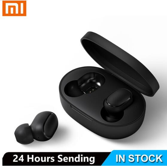 Xiaomi Bluetooth Earphone Mic Handsfree Earbuds Stereo-Bass Airdots-Tws Bt-5.0 Original