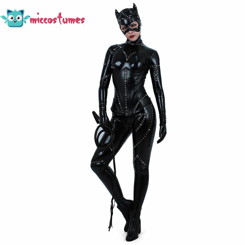 Cat woman Cosplay Costume Cat Suit Jumpsuit