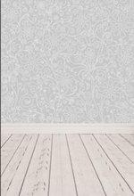 Gris flor natural verdadera duro suelo de madera fotografía Fondo vinilo tela Impresión de computadora de alta calidad boda telón de fondo