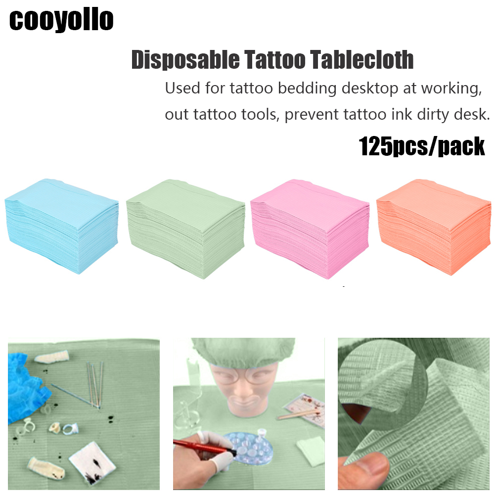 5 Color 125pcs Disposable Waterproof Tablecloths Personal Medical Hygiene Makeup Tattoo Table Mat Underpad Double Layer 45*33cm5 Color 125pcs Disposable Waterproof Tablecloths Personal Medical Hygiene Makeup Tattoo Table Mat Underpad Double Layer 45*33cm