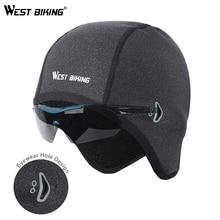 WEST BIKING Cycling Cap Winter Man Woman Sport Windproof Thermal Bicycle Fleece Running Skiing Head Hat Bike Caps
