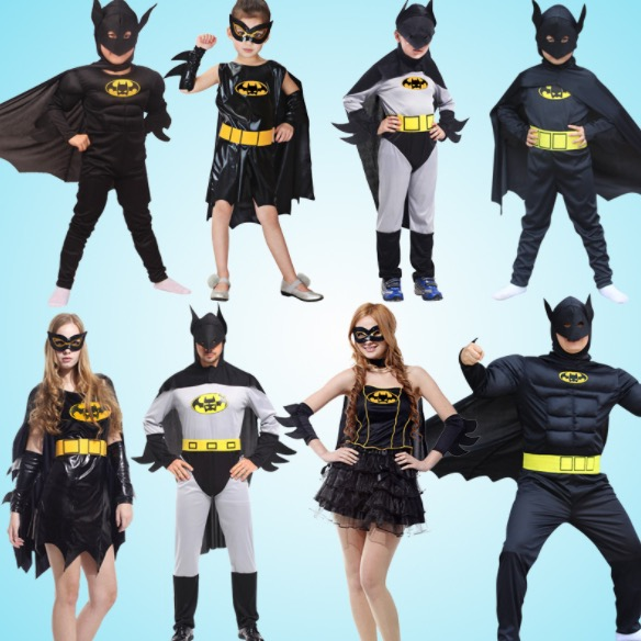 Family Matching Outfits Super Hero Batman Cosplay Costume Girls Boys Mom Dad Halloween Family Masquerade Costume Dress SA1361-in Matching Family Outfits ... & Family Matching Outfits Super Hero Batman Cosplay Costume Girls Boys ...