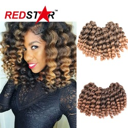 New arrival crochet braids synthetic hair extension 22roots pack wand curl 2x bounce marley hair havana.jpg 250x250